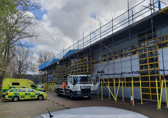 NHS scaffolding