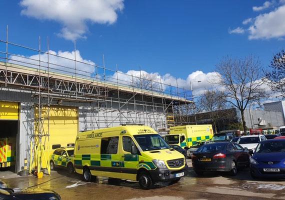 Ambulance service scaffolding